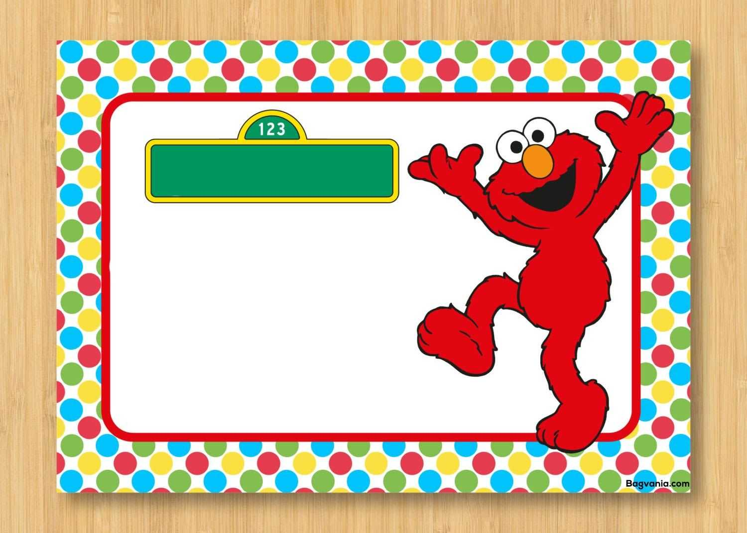 Download Free Printable Elmo Birthday Invitations In 2019 Intended For Elmo Birthday Card Template