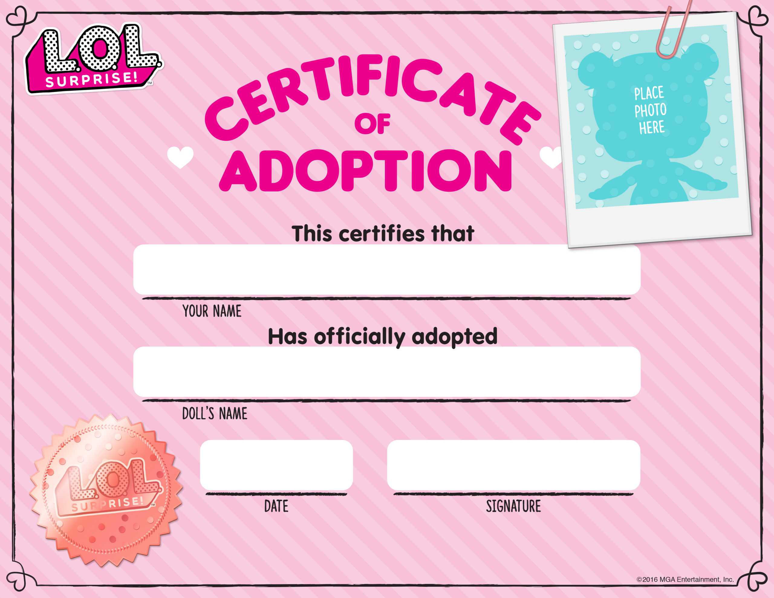Download Fun Activities And Color-Ins To Print Out And Play throughout Toy Adoption Certificate Template