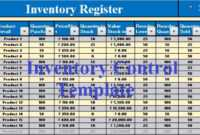 Download Inventory Control Excel Template – Exceldatapro with Stock Report Template Excel