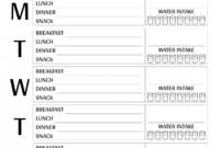 Download Printable Weekly Meal Plan Template Pdf within Blank Meal Plan Template