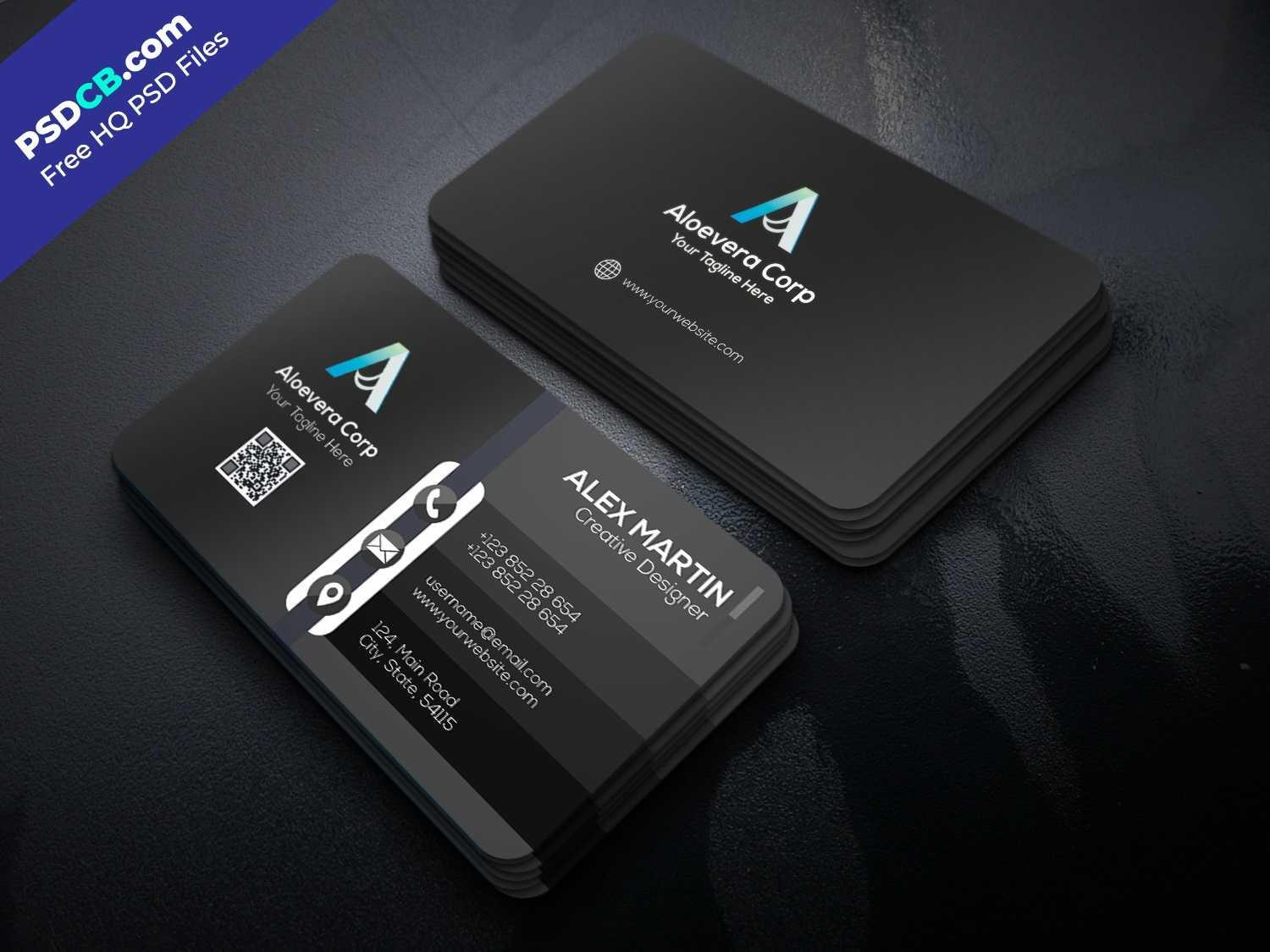 Download Unique Creative Business Card Template Psd Set For with regard to Unique Business Card Templates Free