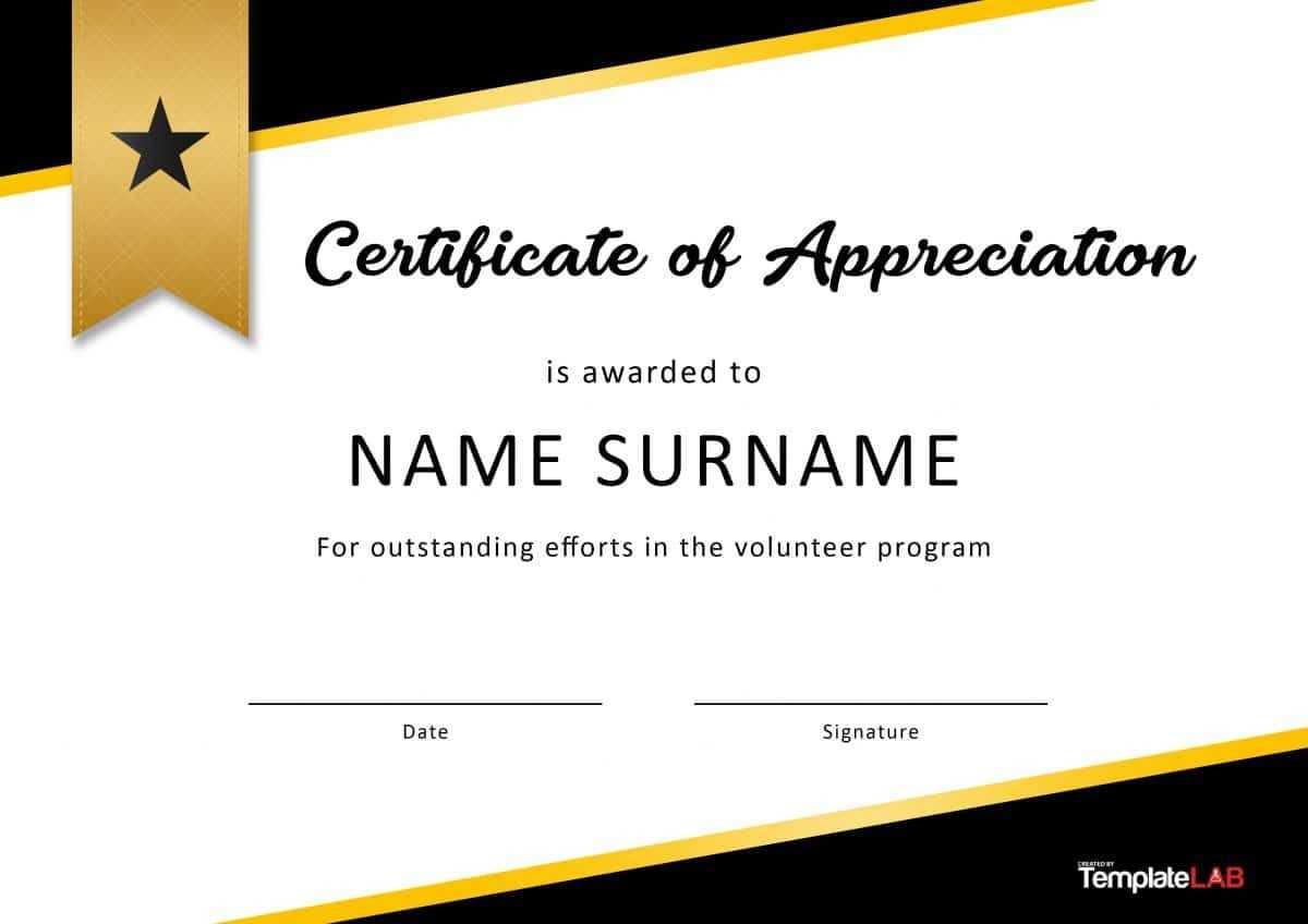 Download Volunteer Certificate Of Appreciation 02 | Misical regarding Volunteer Certificate Template