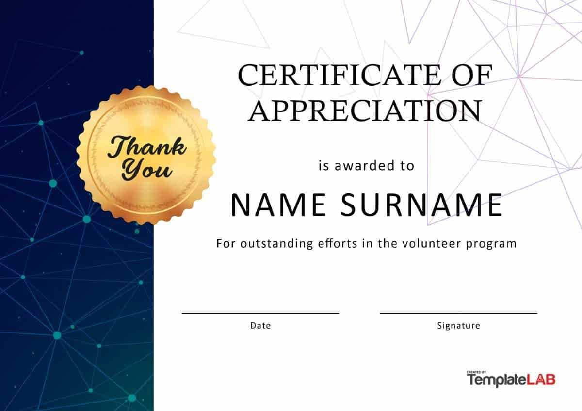 Download Volunteer Certificate Of Appreciation 03 | Misical Within Volunteer Certificate Template