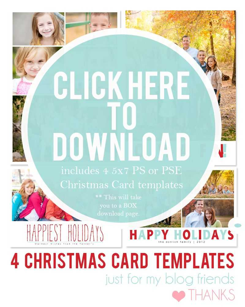 Downloadable Christmas Card Templates For Photos |  Free For Free Christmas Card Templates For Photographers
