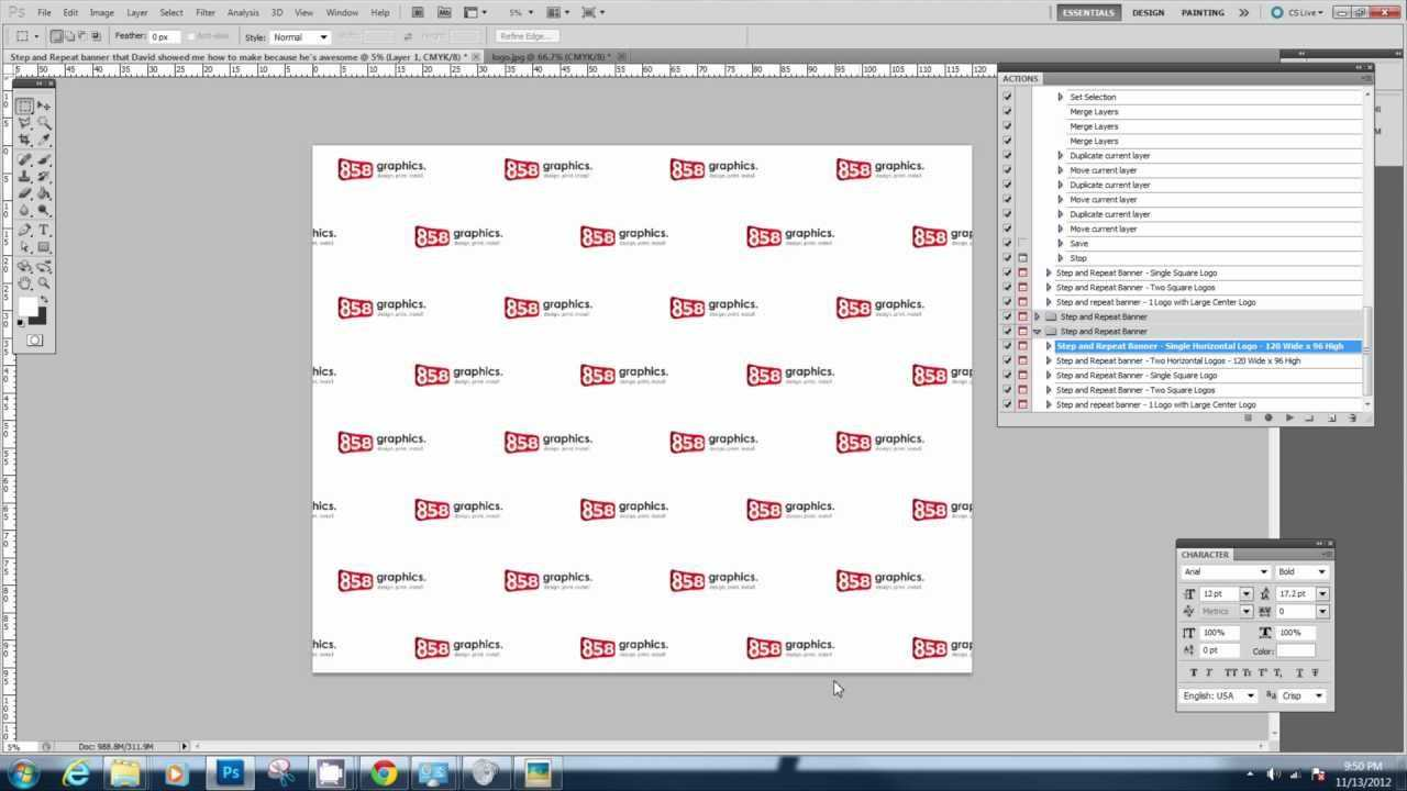 Downloading And Using The Step And Repeat Photoshop Action Throughout Step And Repeat Banner Template