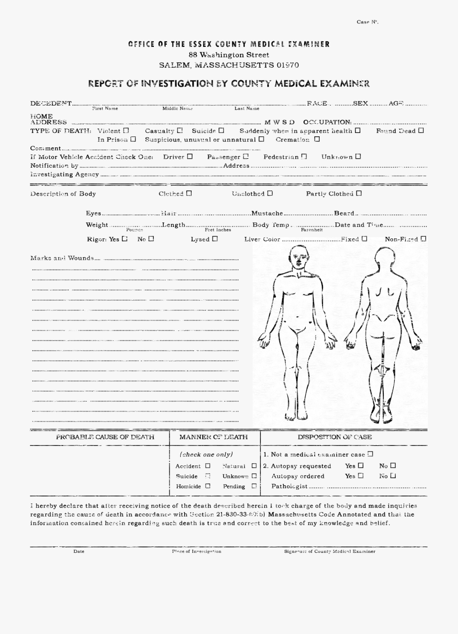 Downloads Cthulhu Reborn Miscellaneous – Autopsy Report With Autopsy Report Template