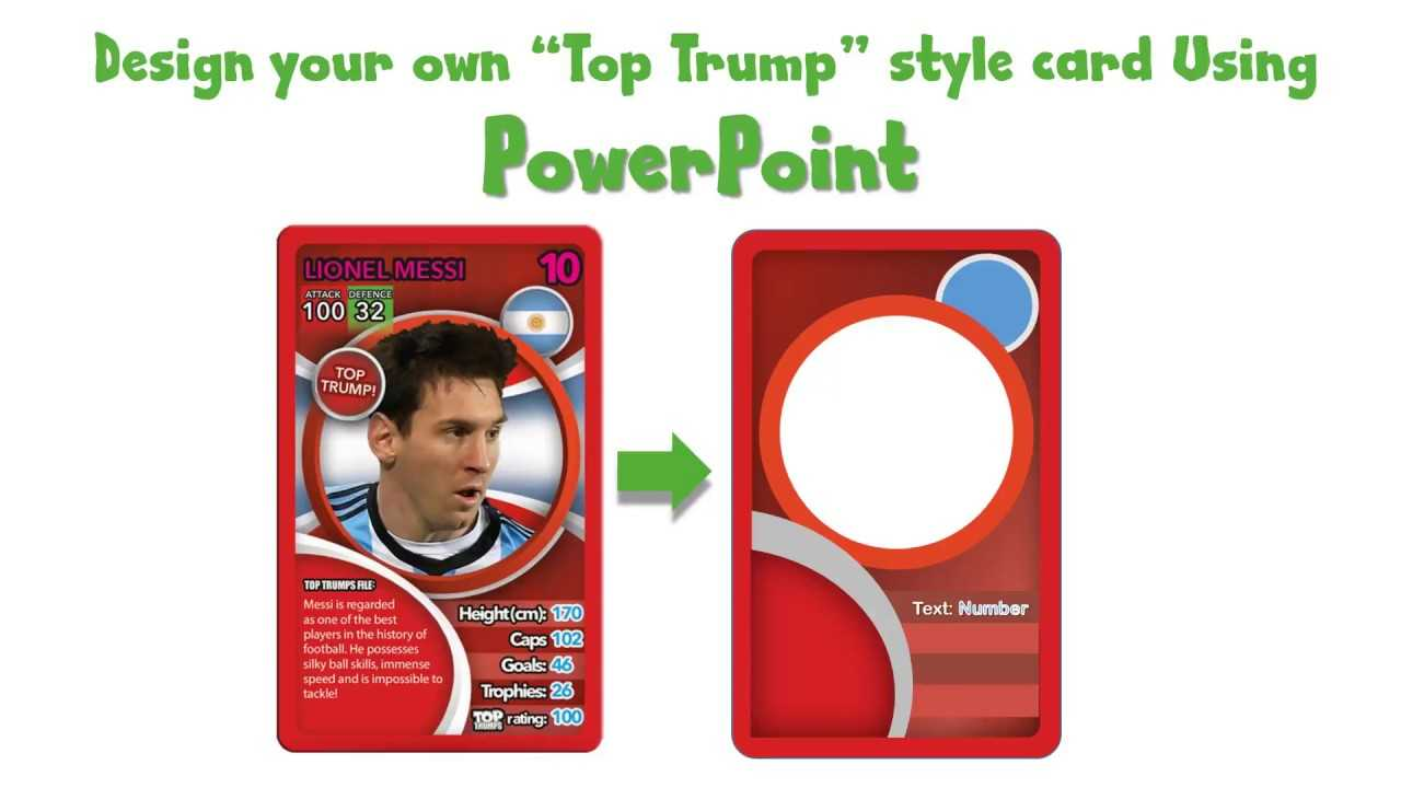 Draw A Top Trump Card Using Powerpoint - Youtube with Top Trump Card Template