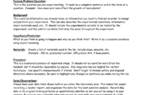 Eastview High School Science Department Lab Report Format inside Science Lab Report Template