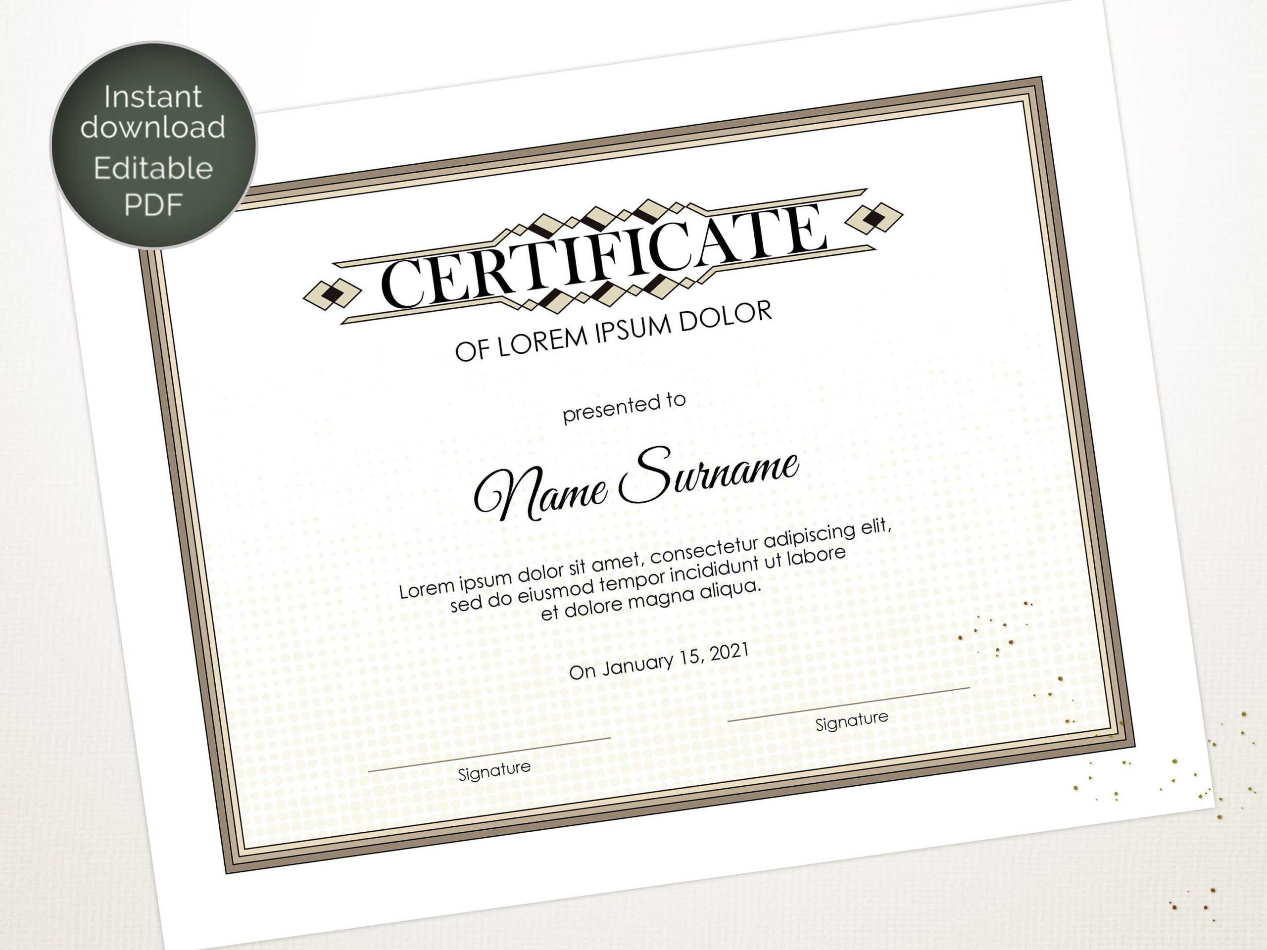 Editable Certificate Template, Blank Business Certificate In Update Certificates That Use Certificate Templates