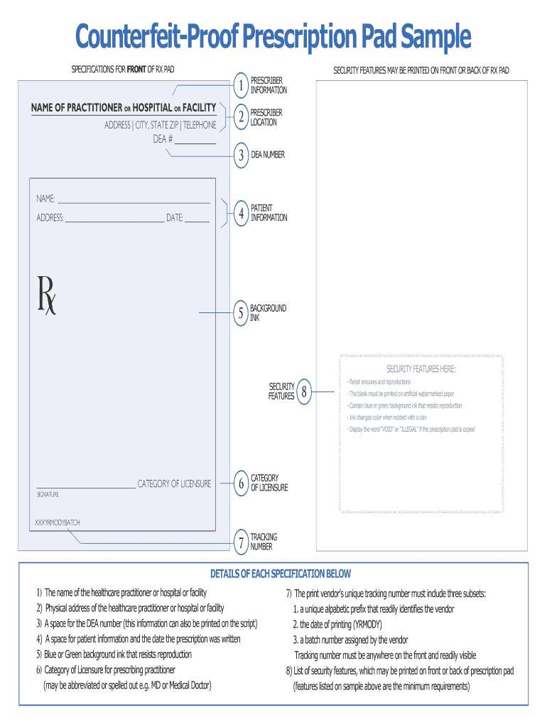 Editable Prescription Template - Fill Online, Printable With Blank Prescription Form Template