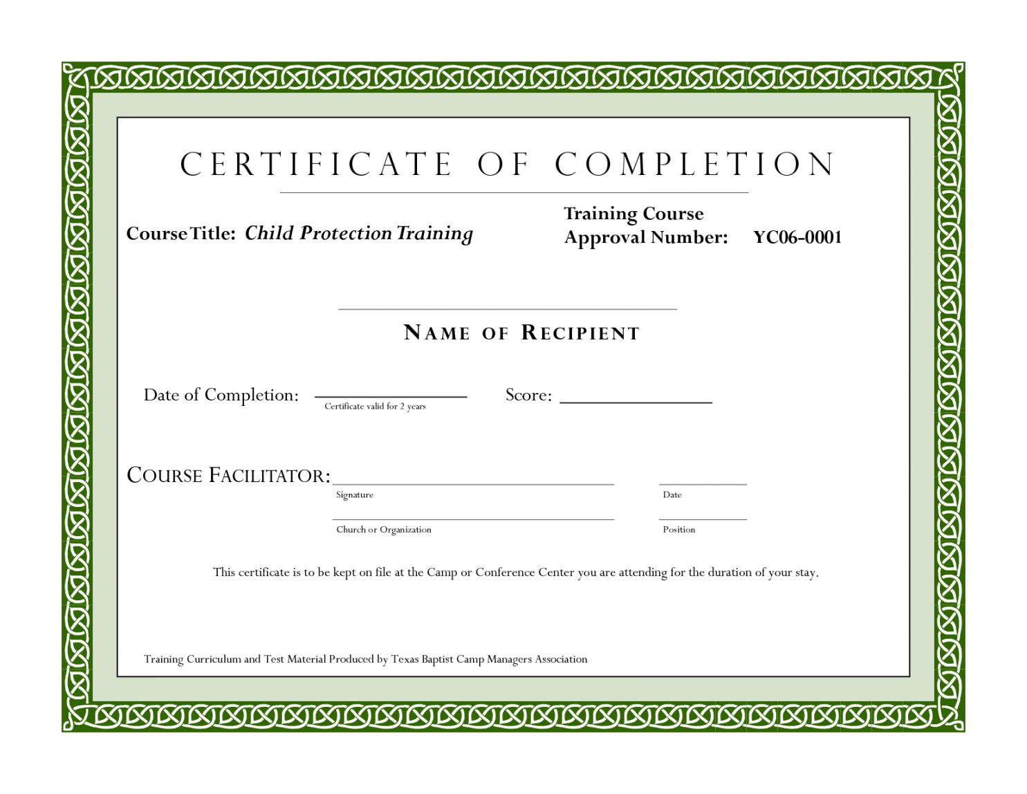Editable Sample Certificate For Training Completion Throughout Fall Protection Certification Template