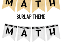 Editable Subject Banners – Burlap Theme | Classroom with Classroom Banner Template