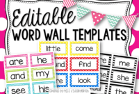 Editable Word Wall Templates | Beginning Of The Year – Prep for Blank Word Wall Template Free