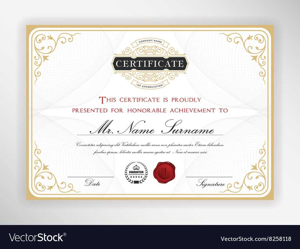 Elegant Certificate Template Design with Elegant Certificate Templates Free