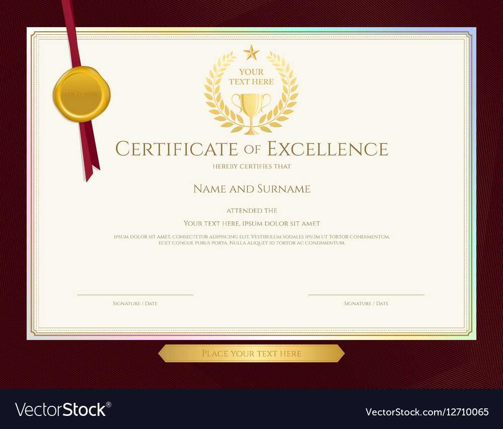 Elegant Certificate Template For Excellence Within Elegant Certificate Templates Free