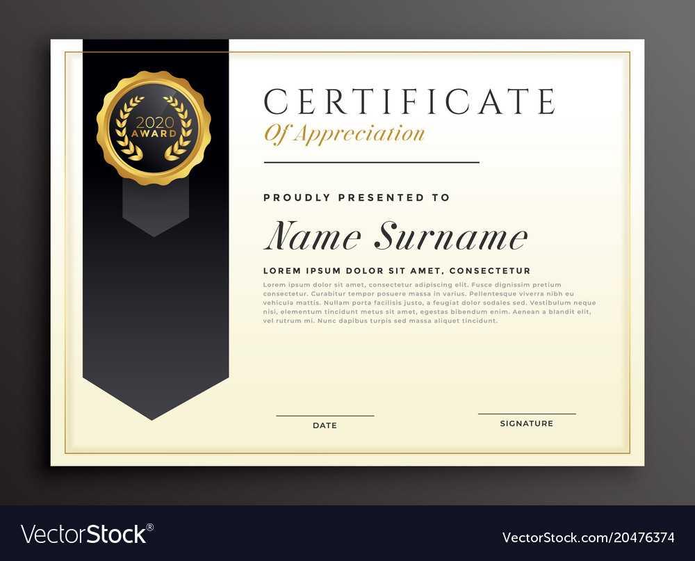 Elegant Diploma Award Certificate Template Design For Award Certificate Design Template