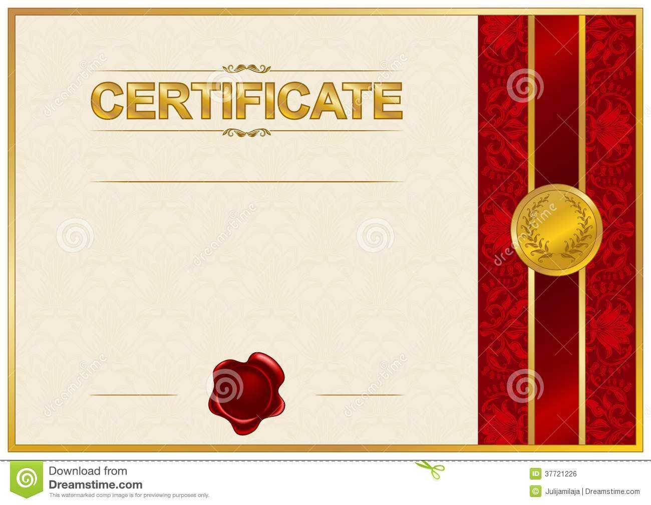 Elegant Template Of Certificate, Diploma Stock Illustration intended for Elegant Certificate Templates Free
