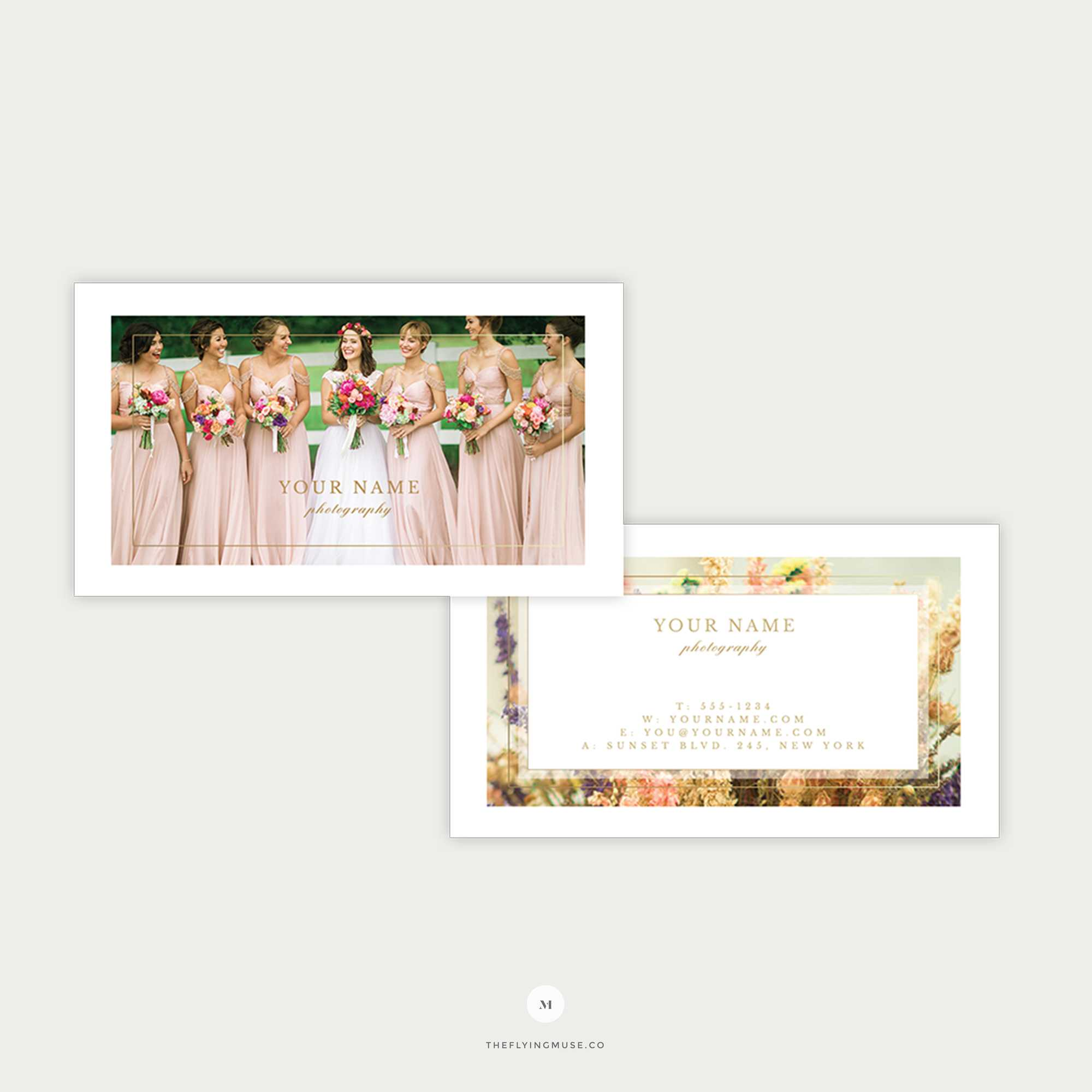 Elegant Wedding Photography Business Card Template - The Flying Muse throughout Photography Referral Card Templates