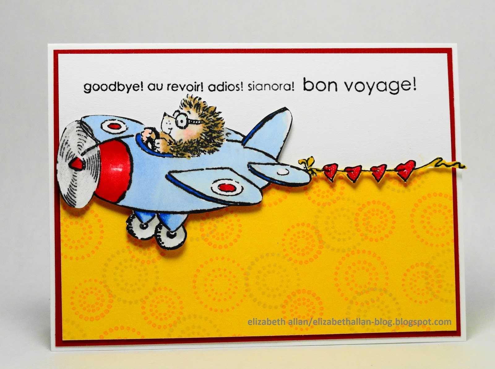 Elizabeth Allan's Art Studio: Bon Voyage! in Bon Voyage Card Template