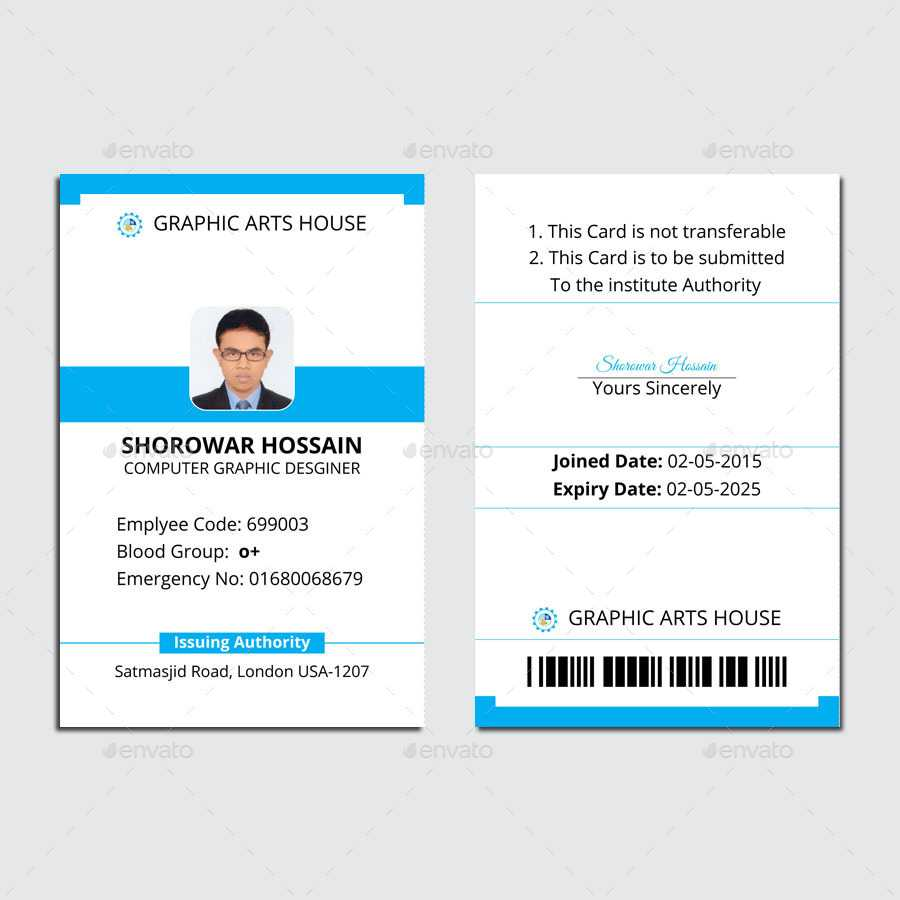 Employee Id Card with regard to Teacher Id Card Template