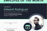 Employee Of The Month Certificate Of Recognition Template inside Employee Of The Month Certificate Template With Picture