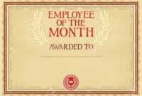 Employee Of The Month – Certificate Template For Manager Of The Month Certificate Template
