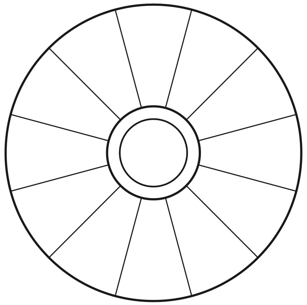 Empty Focus Wheel (To Print)   Abraham   Focus Wheel In Wheel Of Life Template Blank