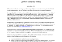 Enfasco Inc Enfasco Inc. Conflict Minerals – Policy within Conflict Minerals Reporting Template