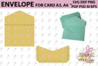 Envelope Template, Svg Printable Pdf Diy Digital inside Envelope Templates For Card Making