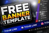 Epic Free Youtube Banner Template – Photoshop Cc/cs6 2017! Psd Download for Adobe Photoshop Banner Templates