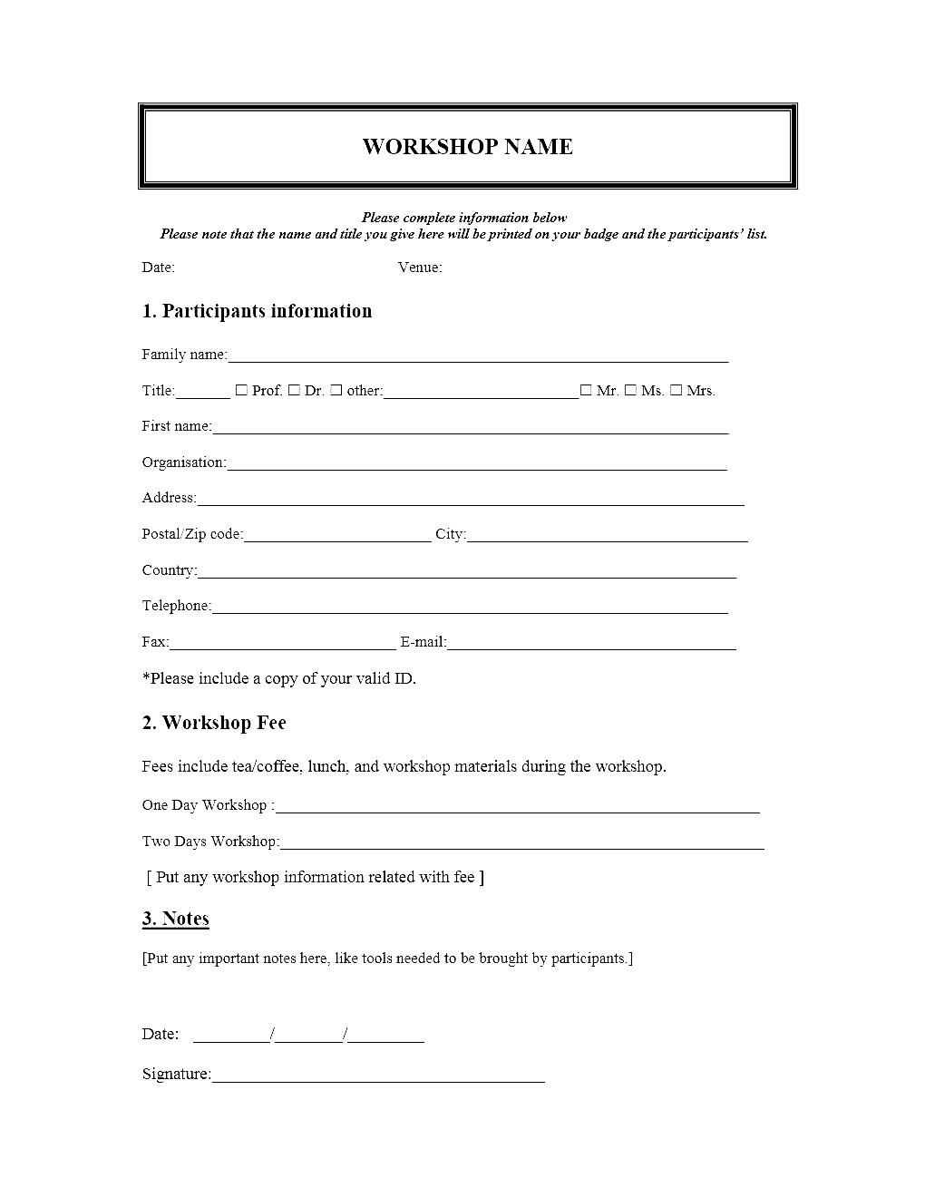 Event Registration Form Template Microsoft Word with Event Survey Template Word