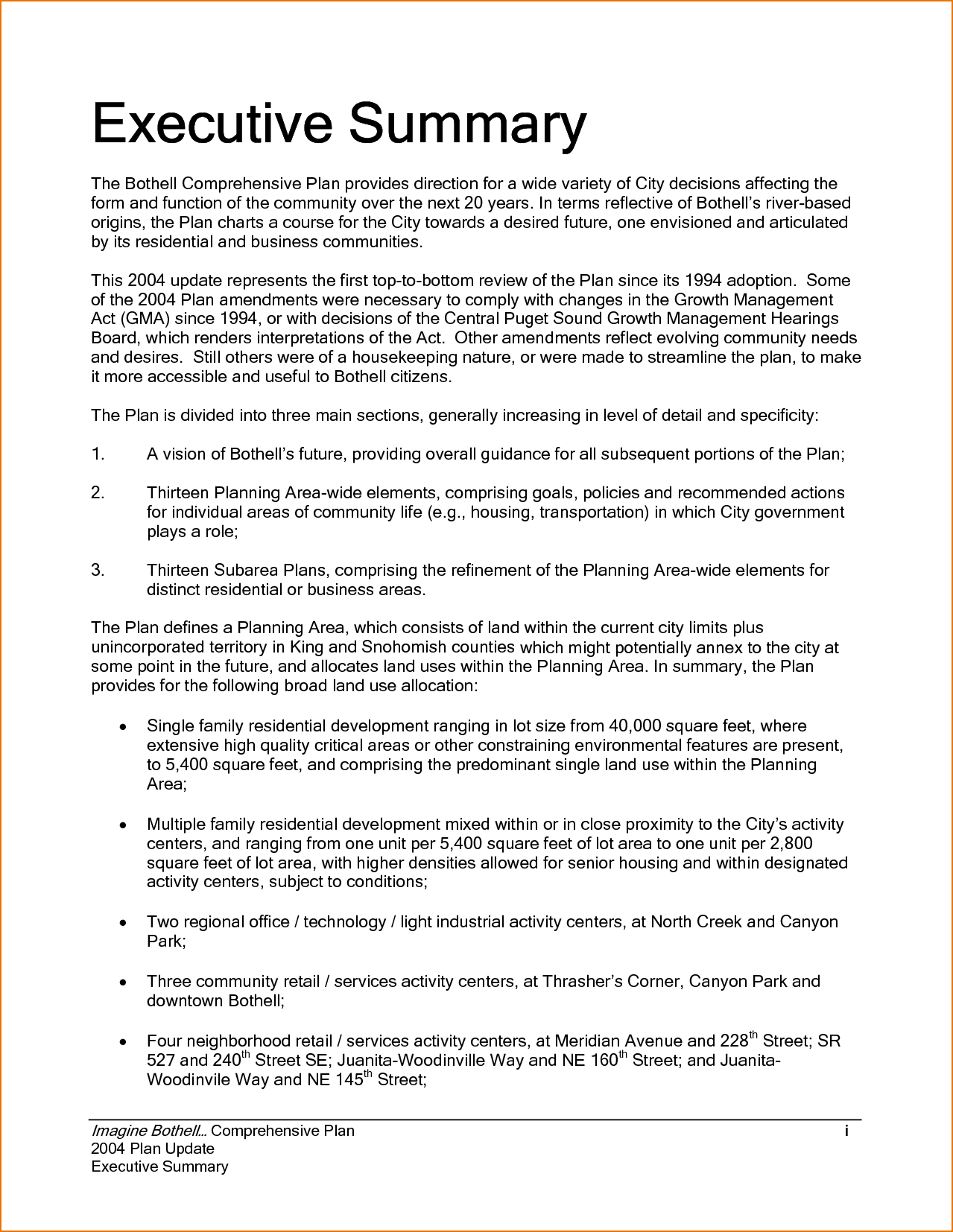 Executive Summary Example Incident Report Template Sample Inside Template For Summary Report