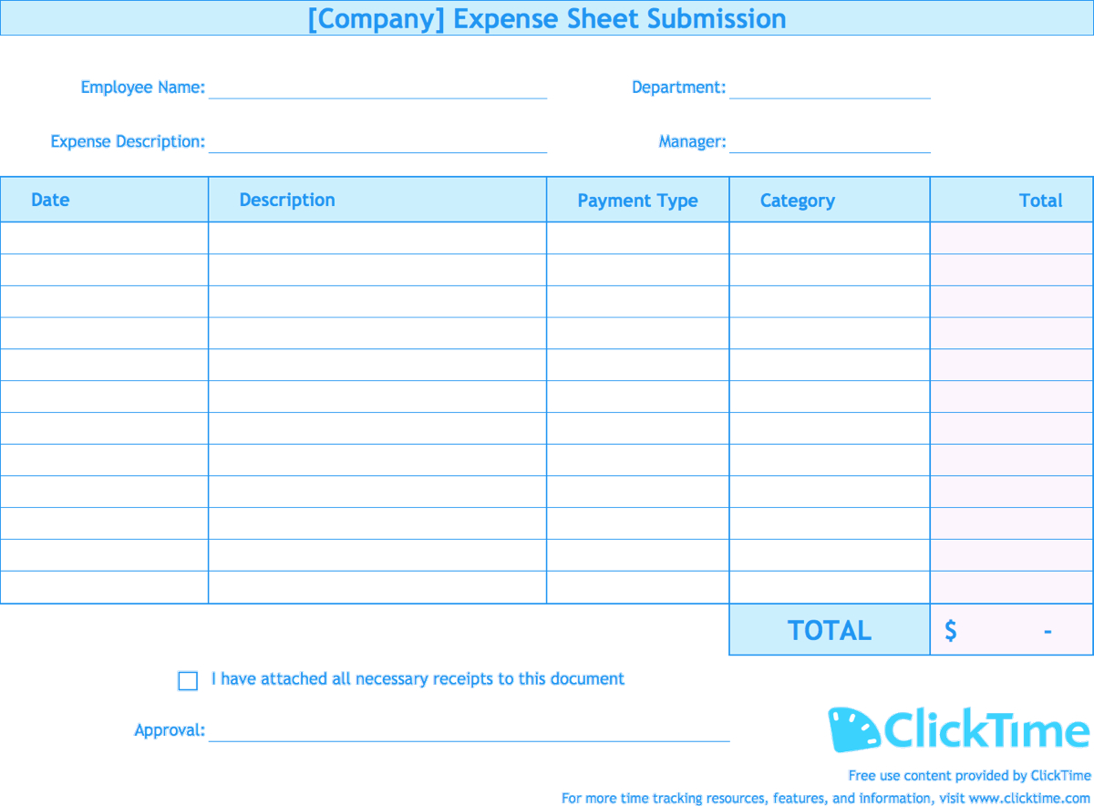 Expense Report Template | Track Expenses Easily In Excel For Company Expense Report Template