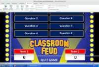 Family Feud Powerpoint Template with Family Feud Powerpoint Template With Sound