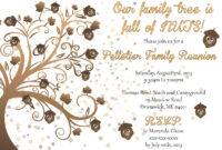 Family Reunion Invitations | Family Reunion Invitation with Reunion Invitation Card Templates