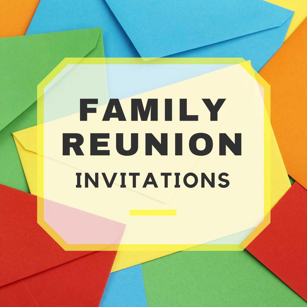 Family Reunion Invitations Throughout Reunion Invitation Card Templates