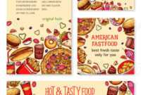 Fast Food Banner And Poster Template Set Design throughout Food Banner Template