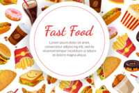 Fast Food Banner Template Restaurant Cafe Design throughout Food Banner Template