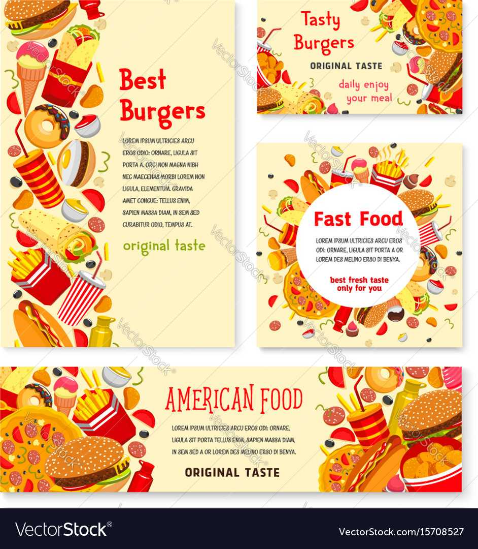Fast Food Restaurant Banner And Poster Template Inside Food Banner Template