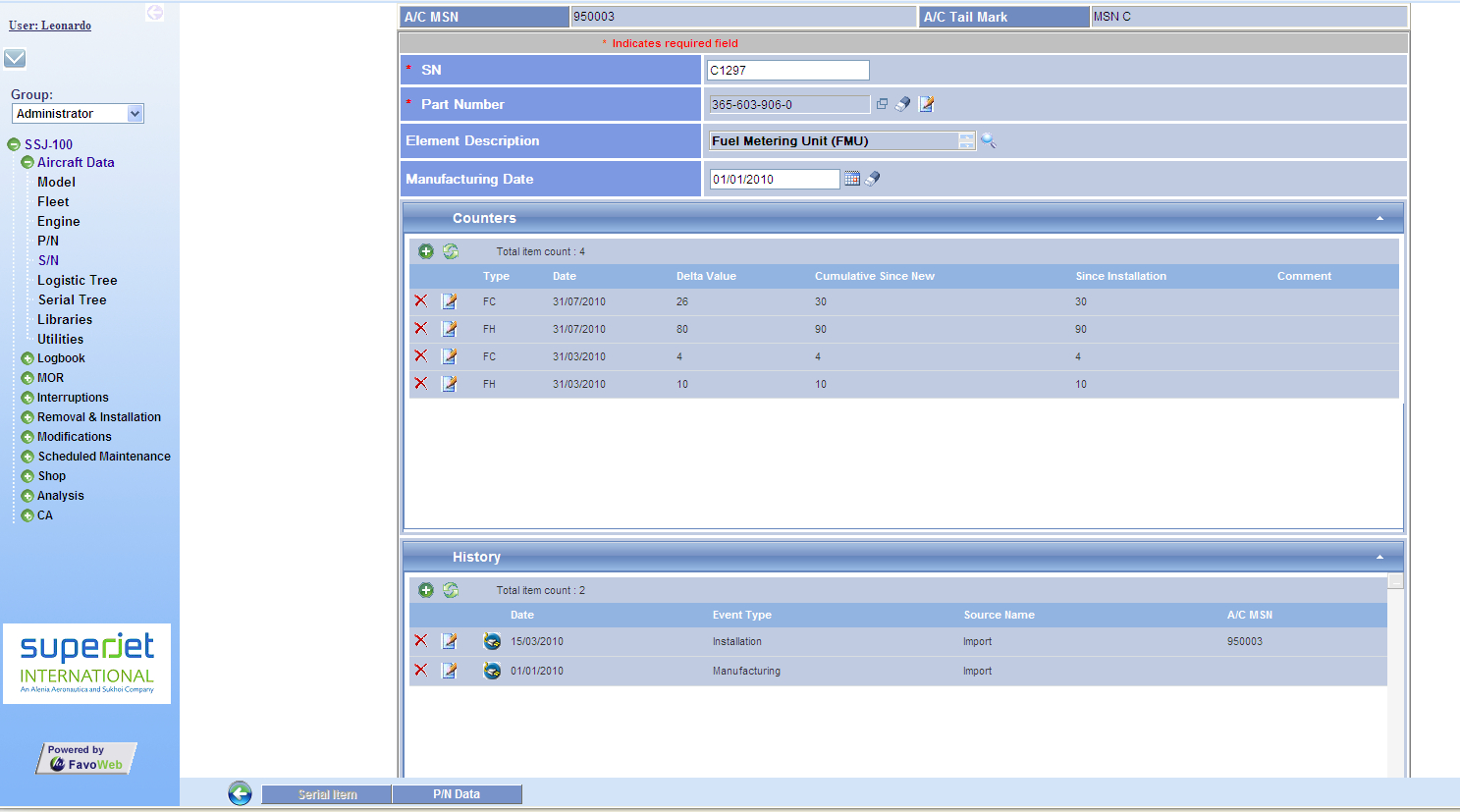 Favoweb Fracas Tool | Table for Fracas Report Template