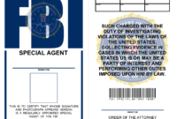 Fbi Badge (X-Files) | Special Agent, Templates Printable inside Spy Id Card Template