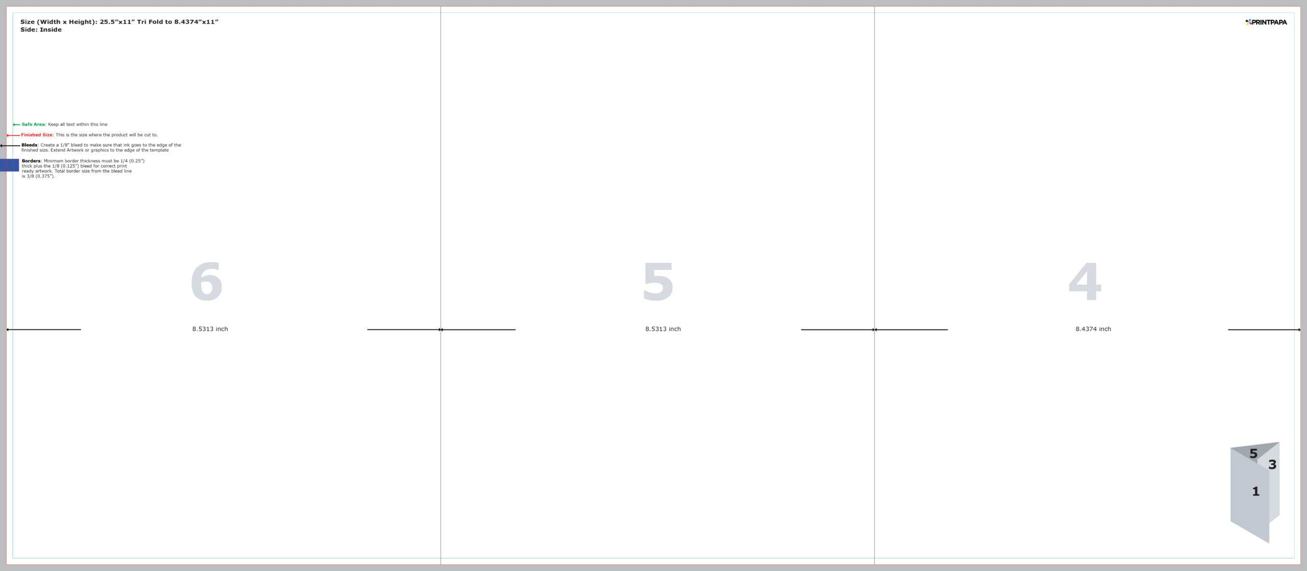 Find A Printing Template :: Printpapa Inside 8.5 X11 Brochure Template