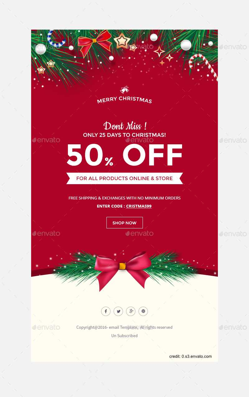 Finding The Right Holiday Greetings Email Template - Mailbird With Regard To Holiday Card Email Template