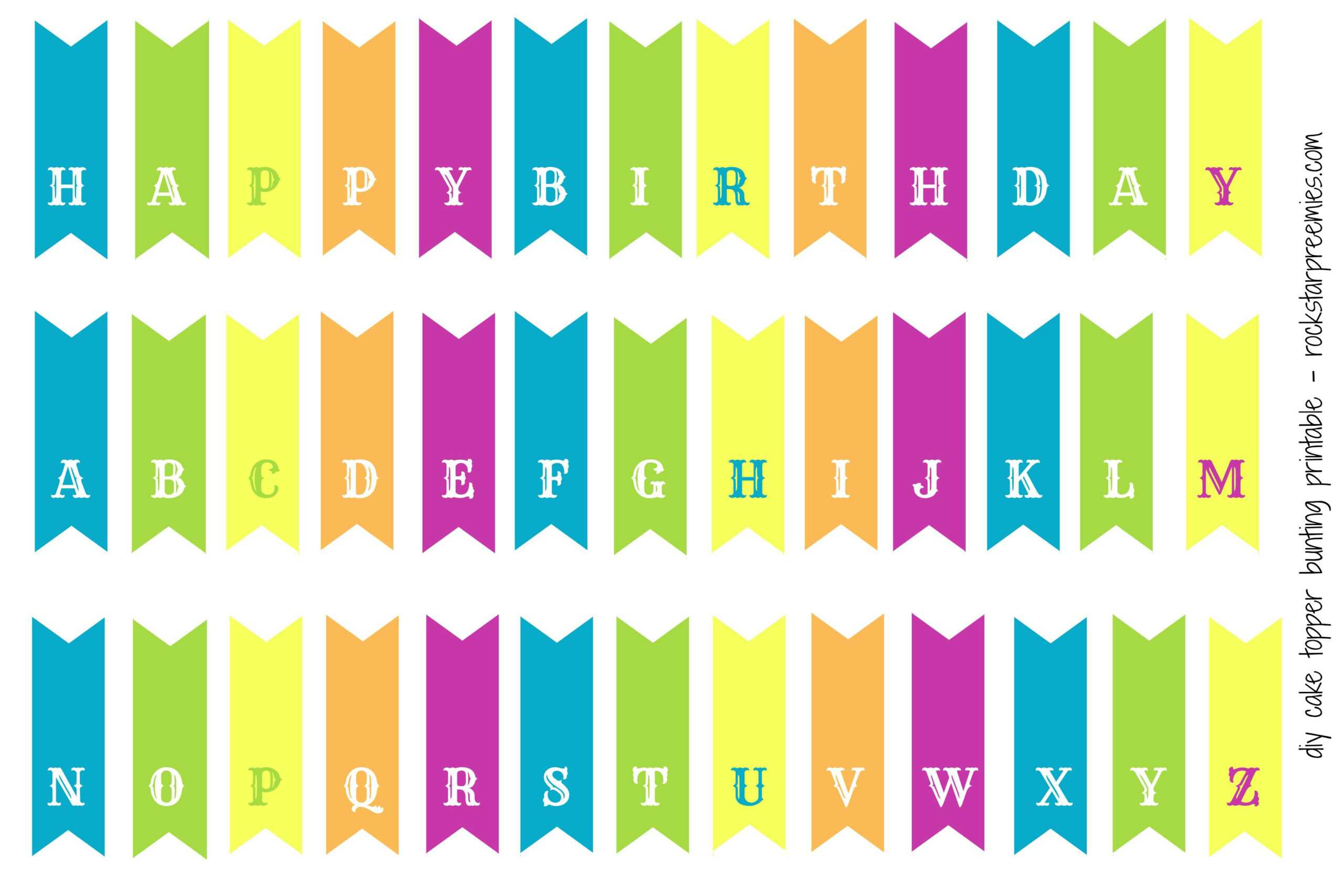 First Birthday For Two! (And A Free Diy Bunting Printable with Free Printable Happy Birthday Banner Templates
