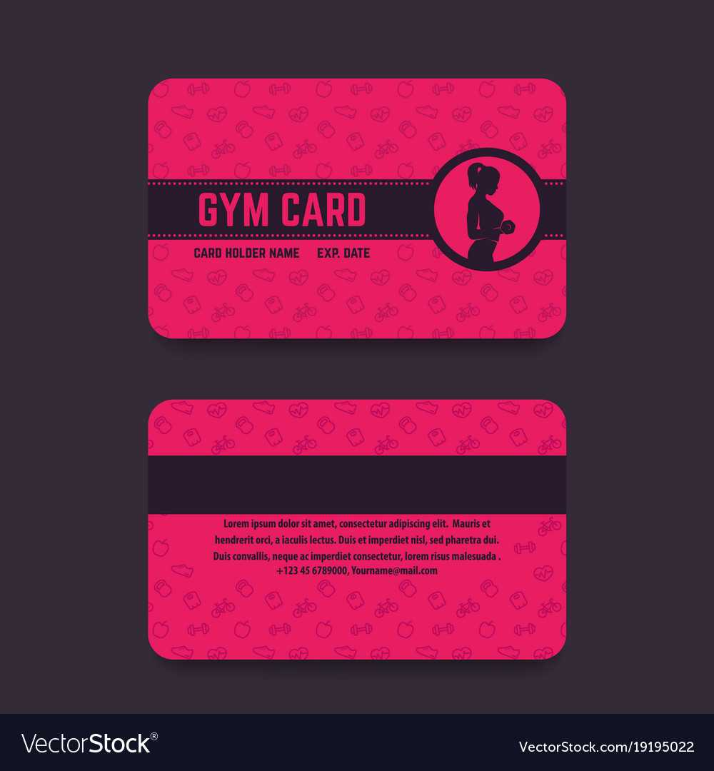 Fitness Club Gym Card Template in Gym Membership Card Template