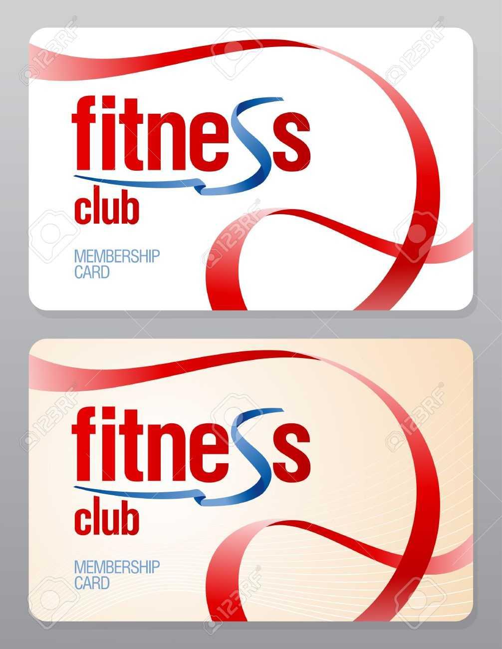 Fitness Club Membership Card Design Template. For Gym Membership Card Template