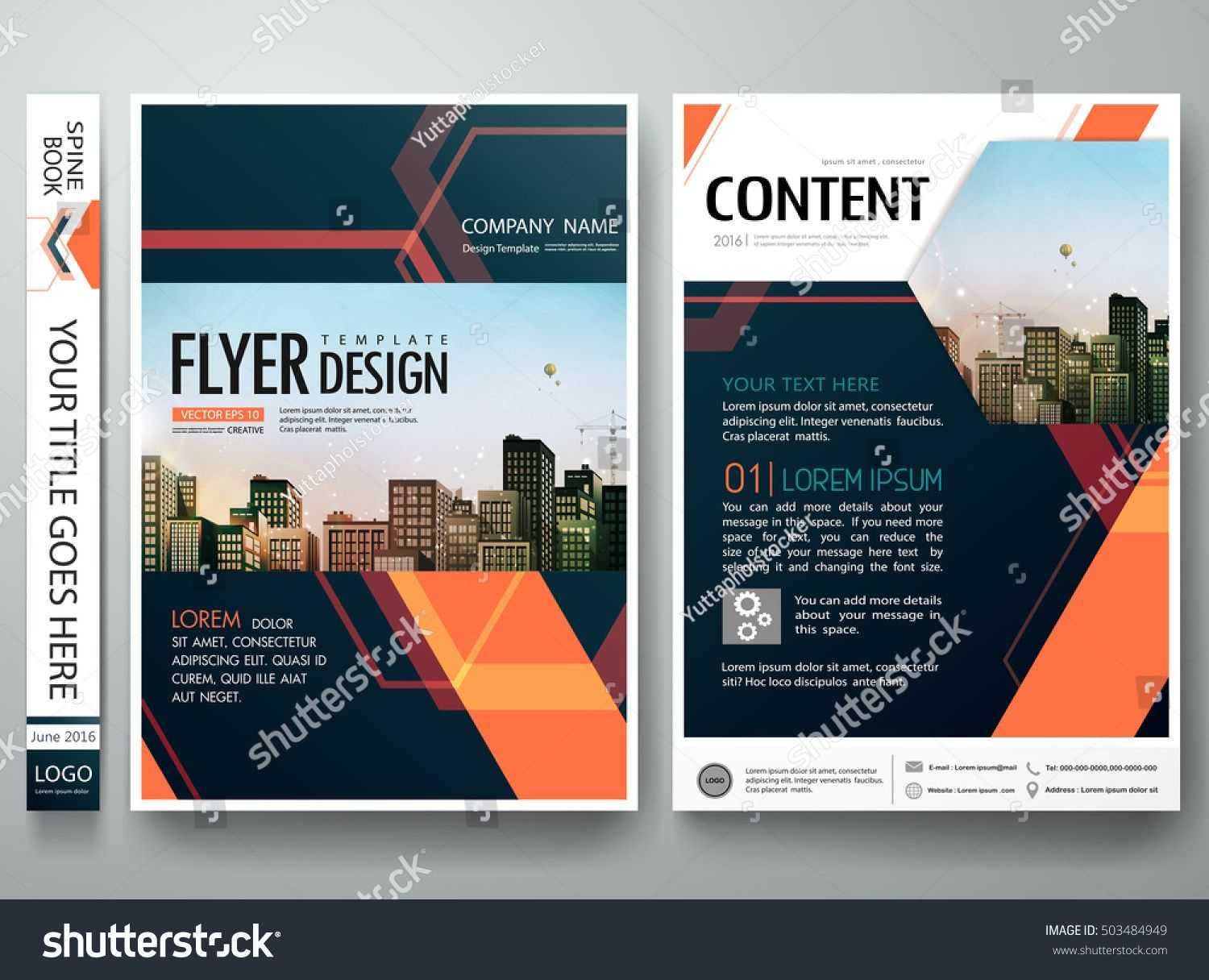 Flyers Design Template Vector. Abstract Blue Cover Book for Engineering Brochure Templates