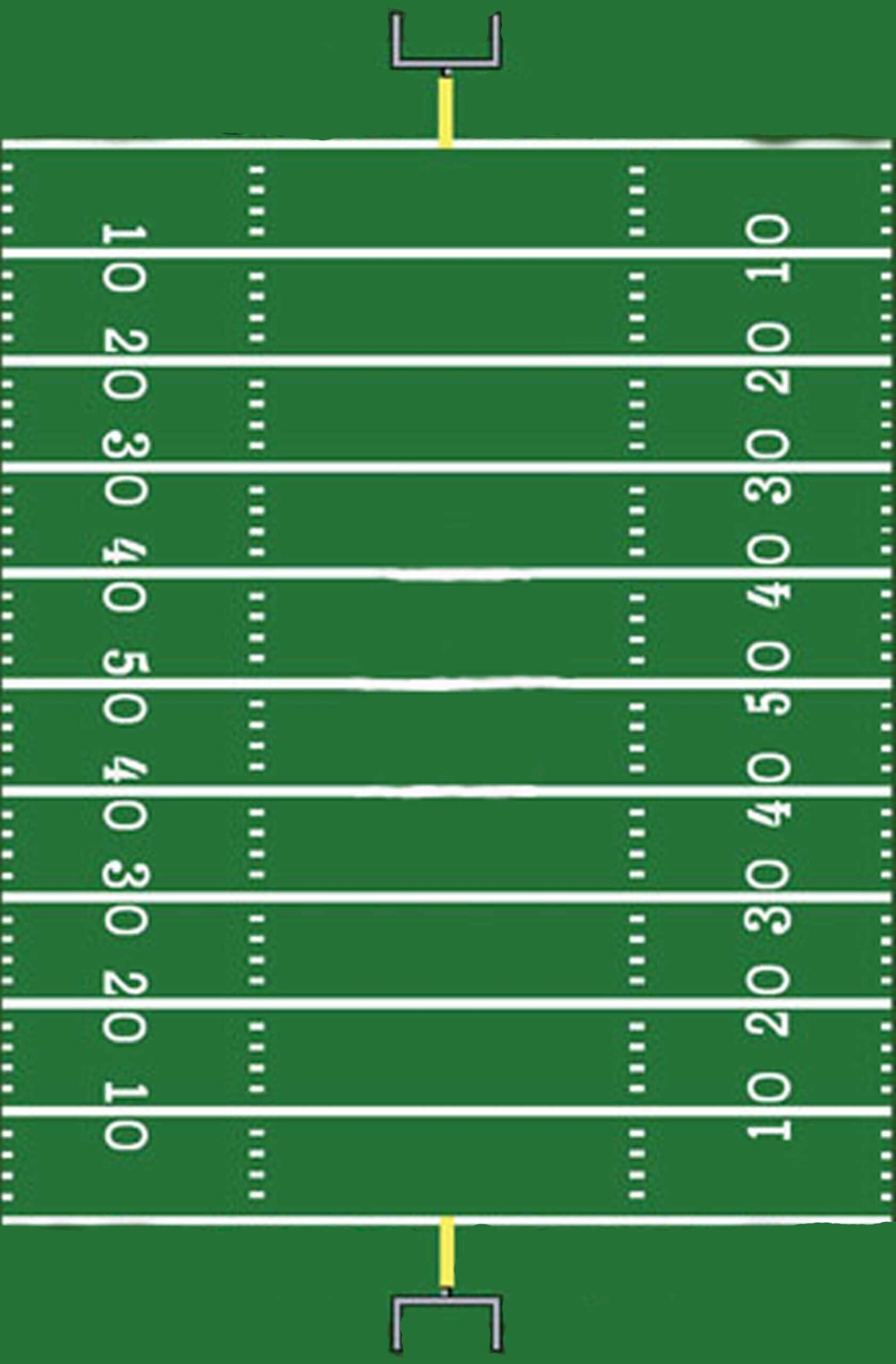 Football Field Template I Made For A Sign | Football Field With Blank Football Field Template