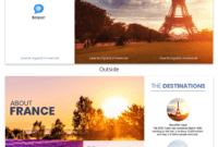 France Travel Tri Fold Brochure inside Word Travel Brochure Template