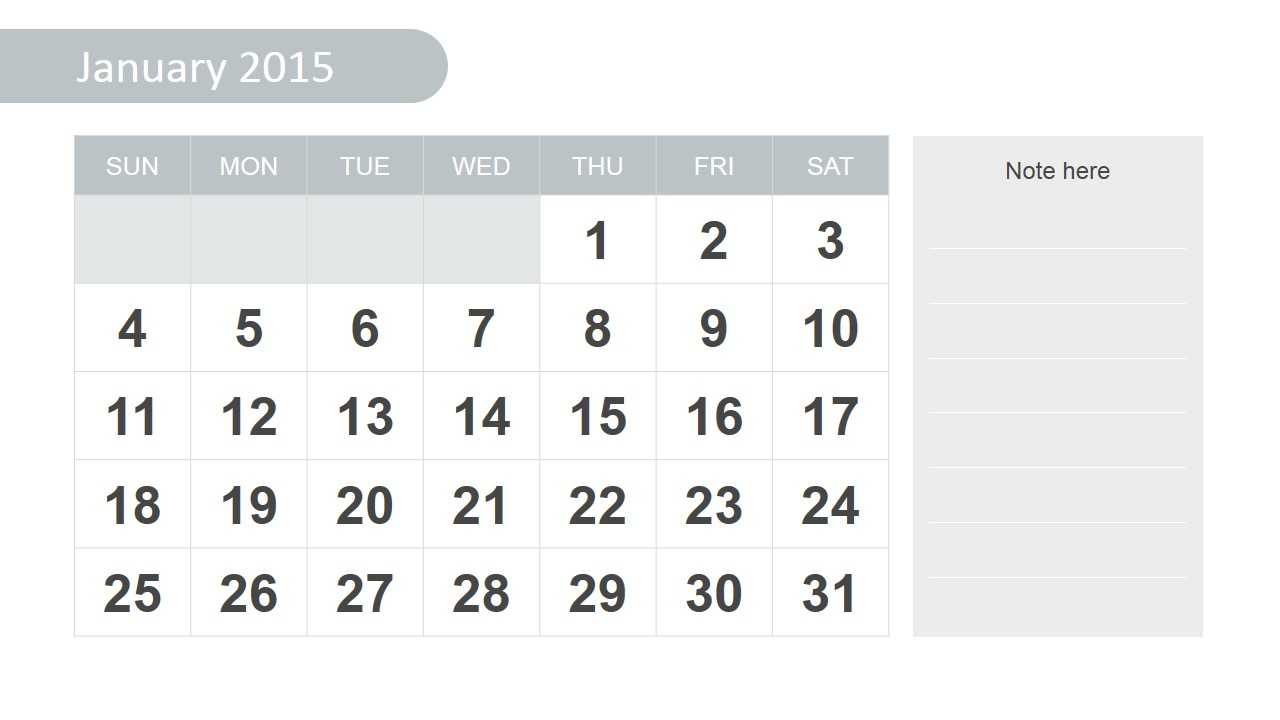 Free 2015 Calendar Template For Powerpoint With Regard To Powerpoint Calendar Template 2015
